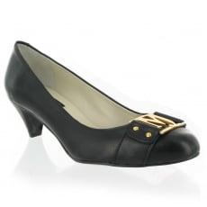 Marta Jonsson Leather Court Shoe 6038L Black Shoes