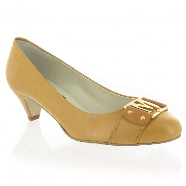 Leather Court Shoe 6038L Tan
