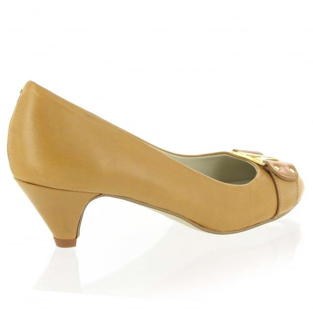 Marta Jonsson Leather Court Shoe 6038L Tan Shoes