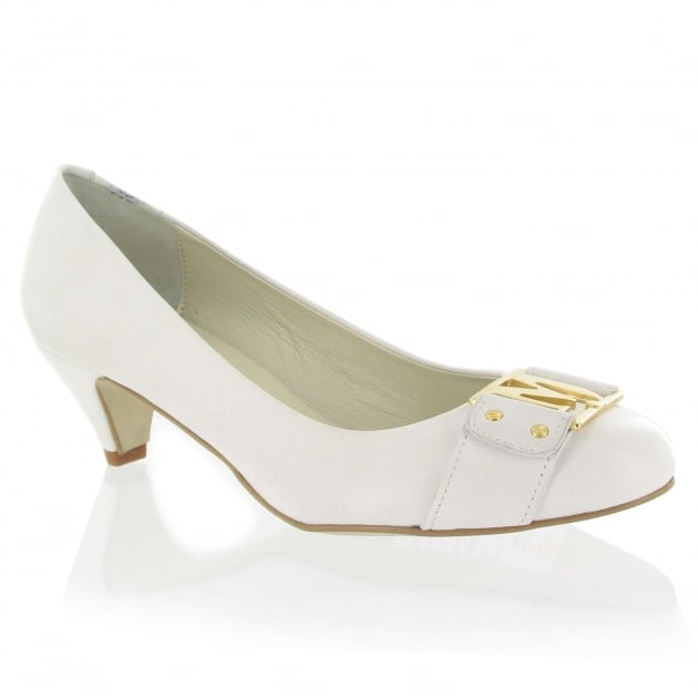 Leather Court Shoe 6038L White