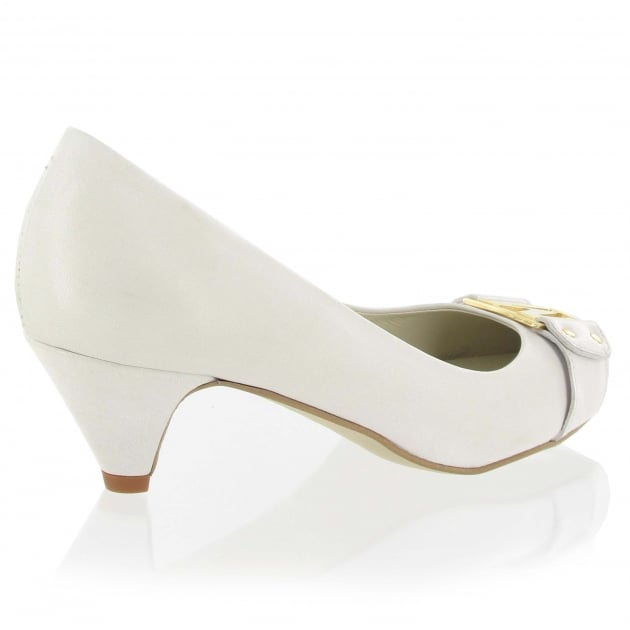 Marta Jonsson Leather Court Shoe 6038L White