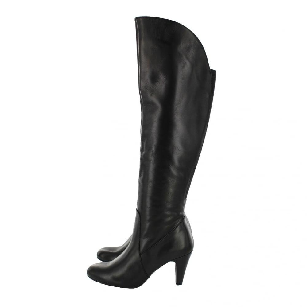 ... Marta Jonsson Leather Knee Boot 1913L Black ...
