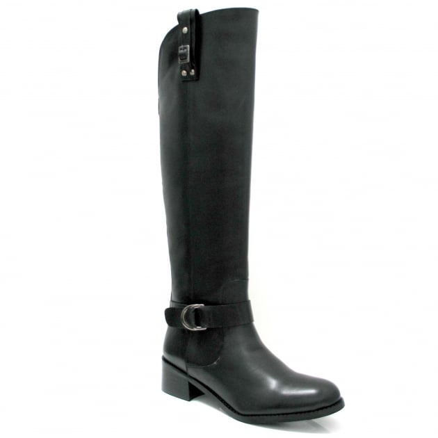 Marta Jonsson Leather Knee Boot 6604L Black Boots