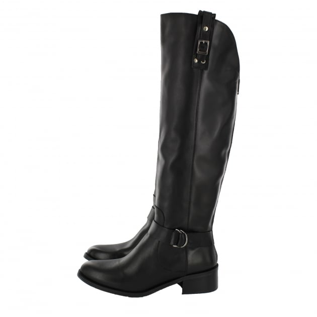 Leather Knee Boot 6604L Black
