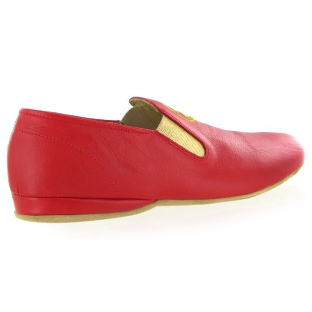 Marta Jonsson Leather Mens Slippers J901L Red