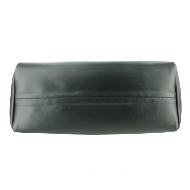 Leather Shoulder Bag 8364L Black