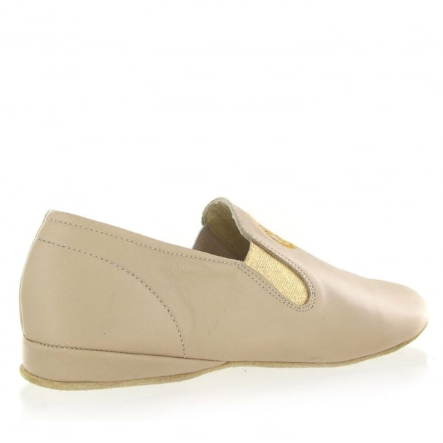 Marta Jonsson Leather Slippers 9002L Beige