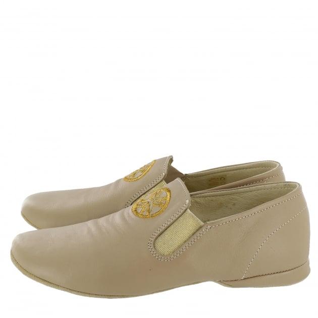 Marta Jonsson Leather Slippers 9002L Beige Slippers