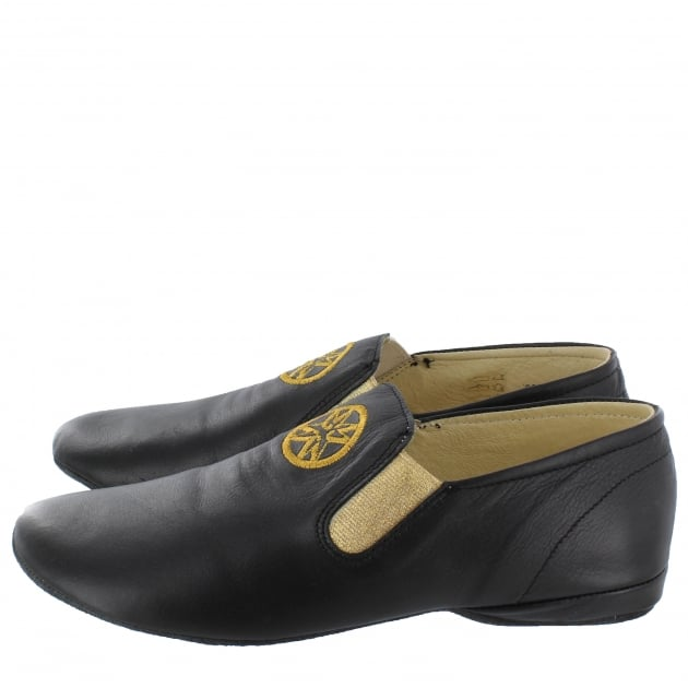 Marta Jonsson Leather Slippers 9002L Black