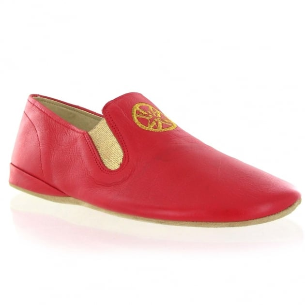 Leather Slippers 9002L Red