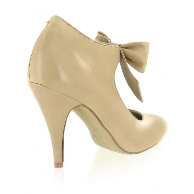 Mary Jane Courts With A Bow 13594L Beige