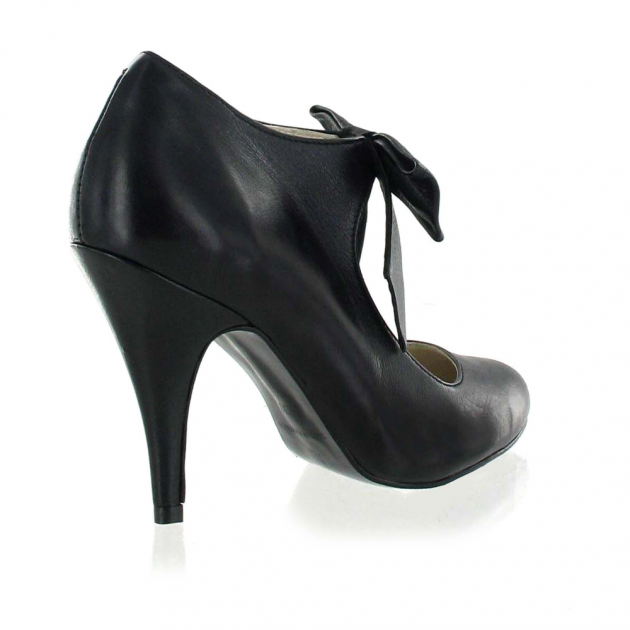 Marta Jonsson Mary Jane Courts With A Bow 13594L Black