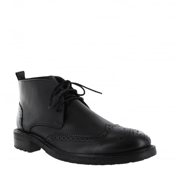 Mens Ankle Boot With Laces J2025L Black