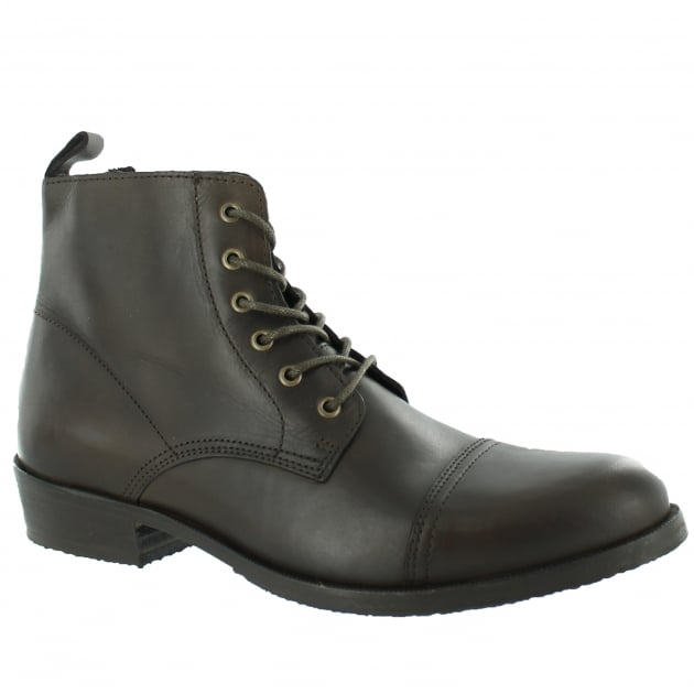 Marta Jonsson Mens Ankle Boot With Laces J4560L Brown Boots