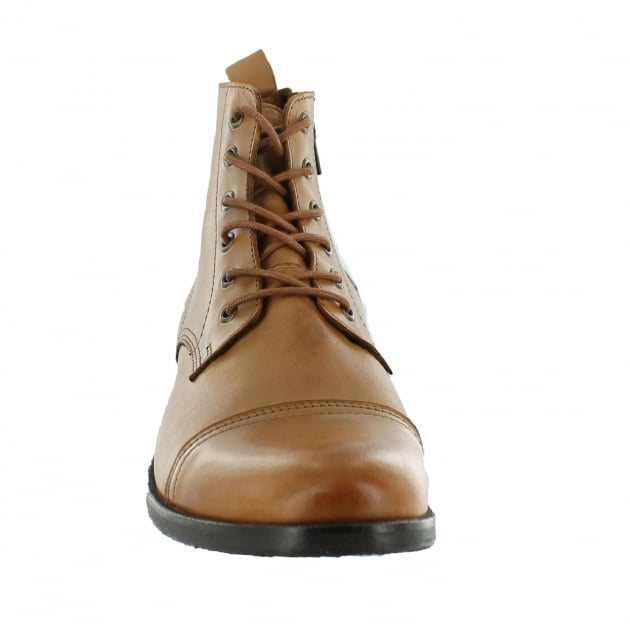 Marta Jonsson Mens Ankle Boot With Laces J4560L Tan Boots