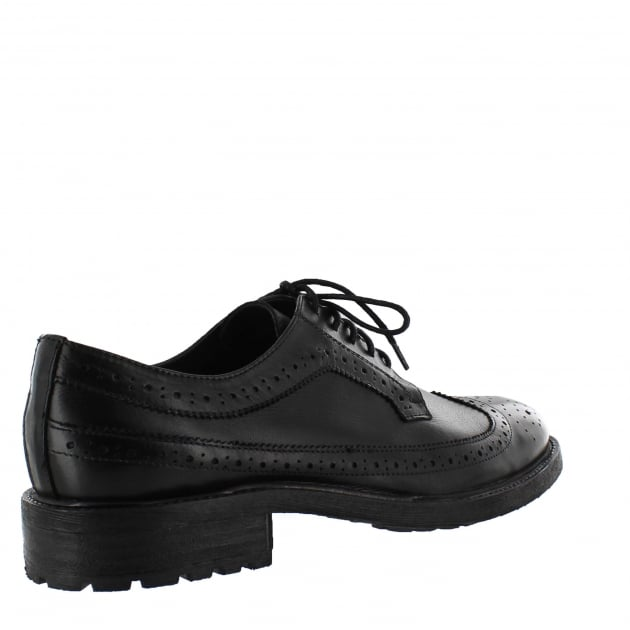Marta Jonsson Mens Brogue Shoes With Laces J0445L Black