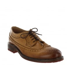 Marta Jonsson Mens Brogue Shoes With Laces J0445L Tan