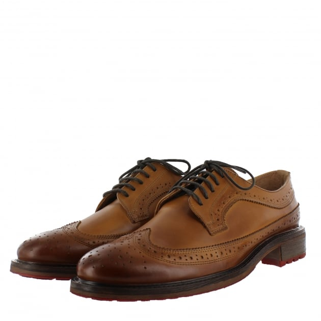 Mens Brogue Shoes With Laces J0445L Tan