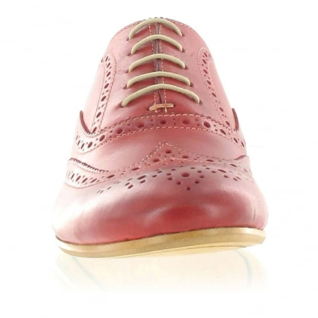 Marta Jonsson Mens Lace Up Classic Brogue J2348L Red Shoes