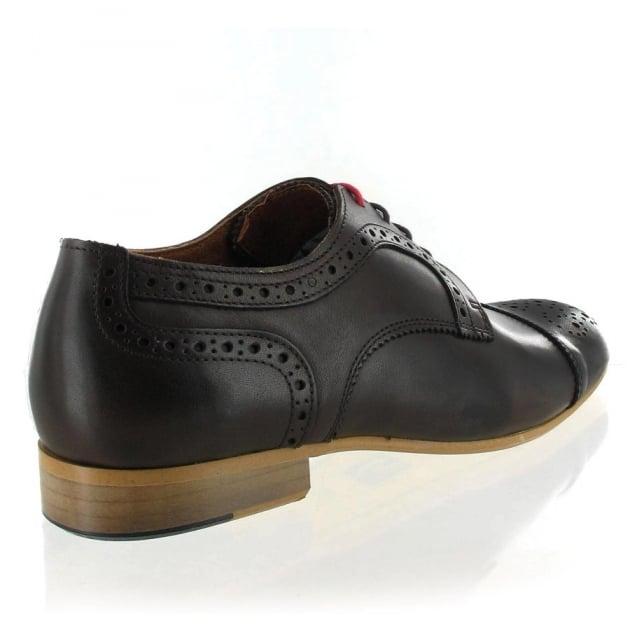Marta Jonsson Mens Leather Shoe With Brogue J2349L Brown Shoes