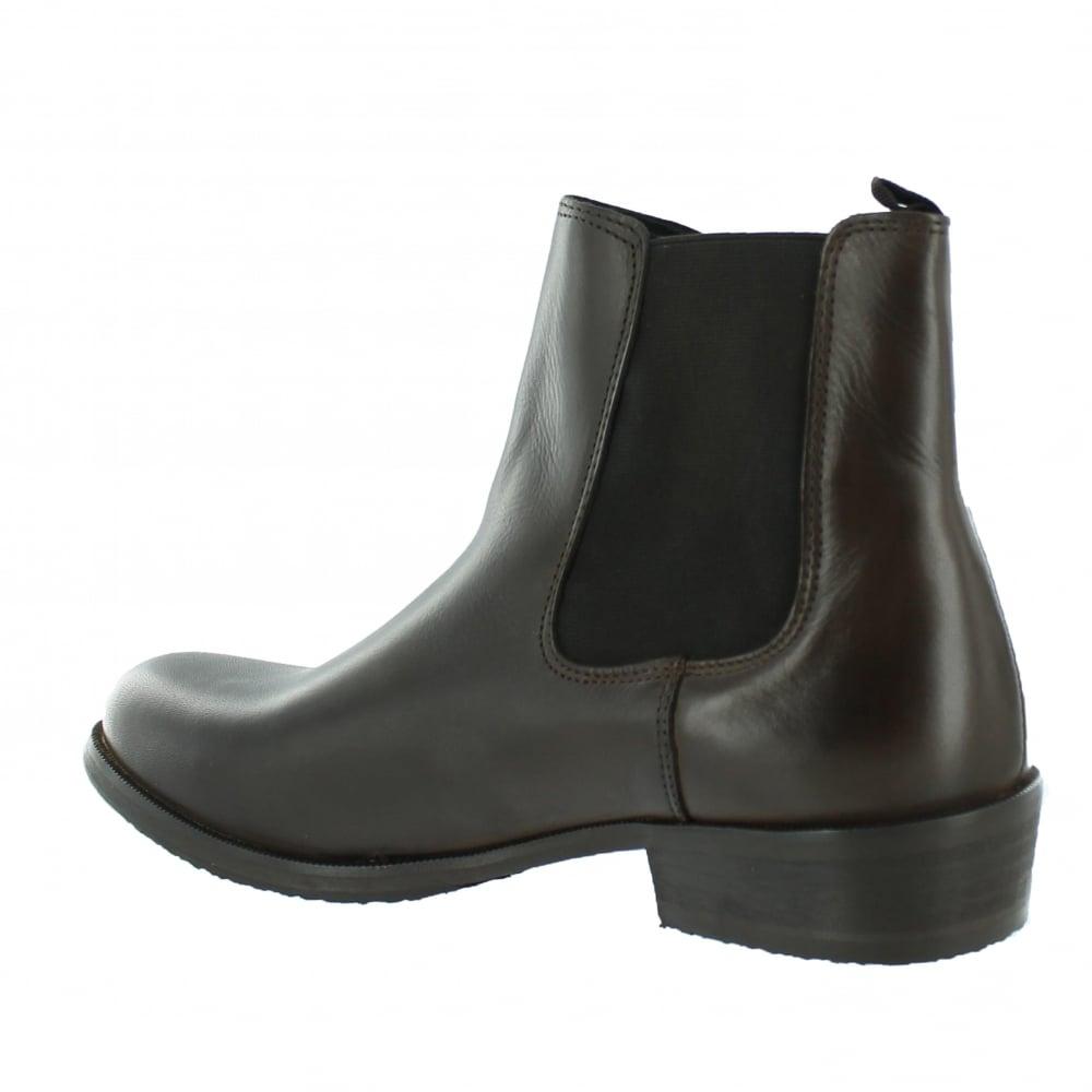 marta jonsson mens slip on ankle boot j4562l s brown