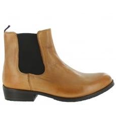 Marta Jonsson Mens Slip On Ankle Boot J4562L Tan Boots