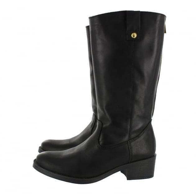Marta Jonsson Mid Calf Boot With A Block Heel 4785L Black Boots