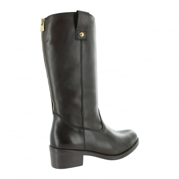 Marta Jonsson Mid Calf Boot With A Block Heel 4785L Brown Boots