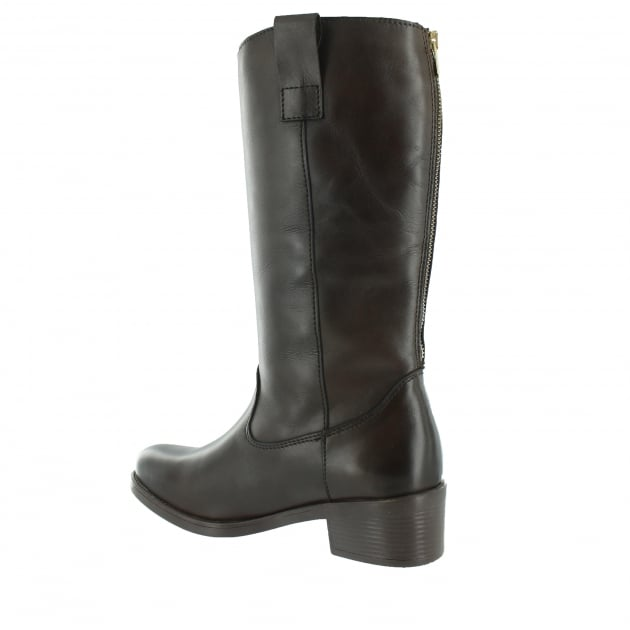 Marta Jonsson Mid Calf Boot With A Block Heel 4785L Brown