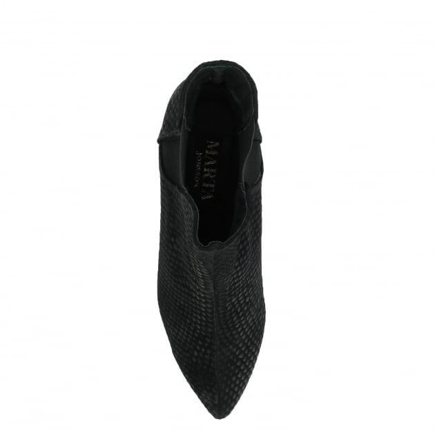 Marta Jonsson Mid Heel Ankle Boot 1185S Black Boots
