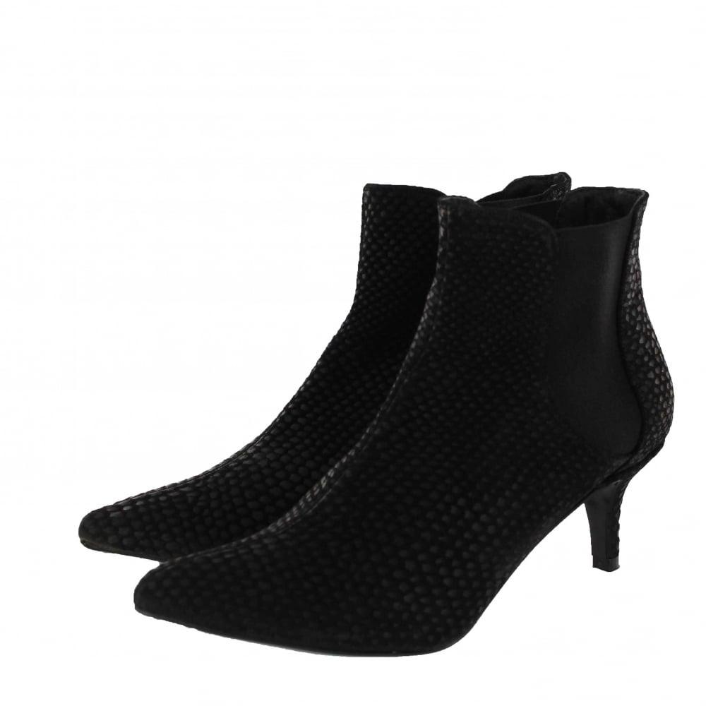 marta jonsson mid heel ankle boot 11185s s black
