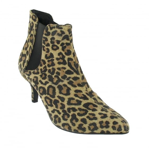 Marta Jonsson Mid Heel Ankle Boot 1185S Leopard Boots