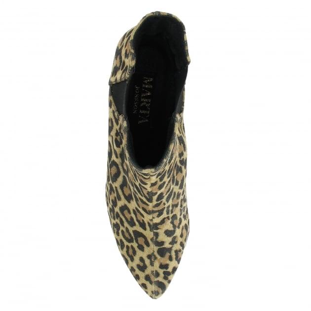 Marta Jonsson Mid Heel Ankle Boot 1185S Leopard