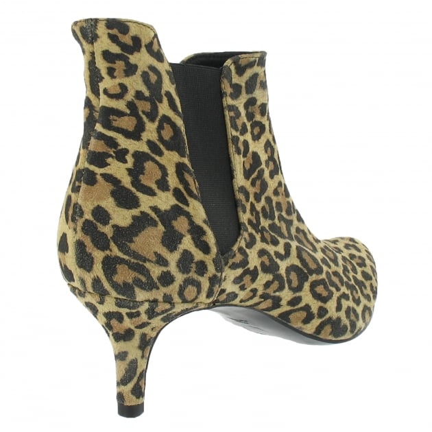 Mid Heel Ankle Boot 1185S Leopard