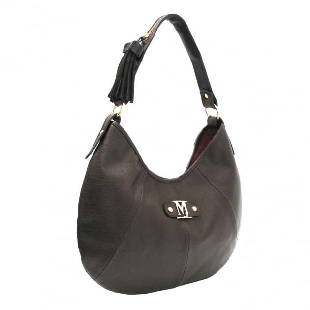 Shoulder Bag With Zipper 215L Brown