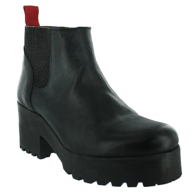 Marta Jonsson Slip On Ankle Boot 5062L Black Boots
