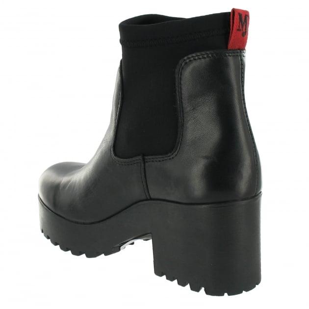 Marta Jonsson Slip On Ankle Boot 5087L Black Boots