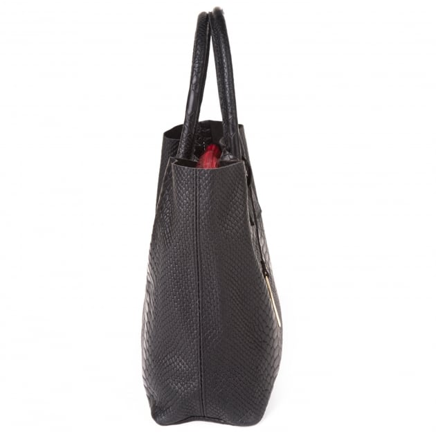 Marta Jonsson Snake Leather Grab Bag 8358S Black