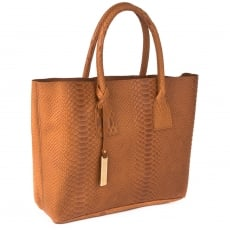 Marta Jonsson Snake Leather Grab Bag 8358S Tan