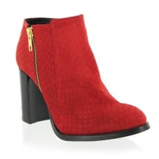 Marta Jonsson Suede Ankle Boot 3051S Red Boots