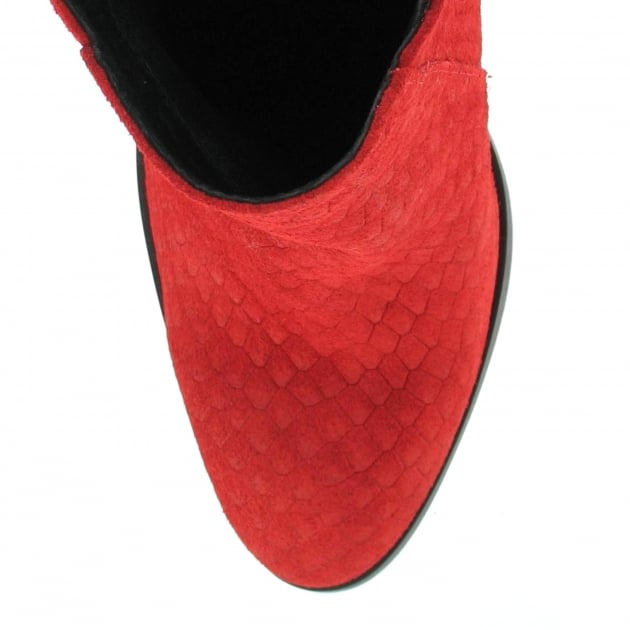 Suede Ankle Boot 3051S Red