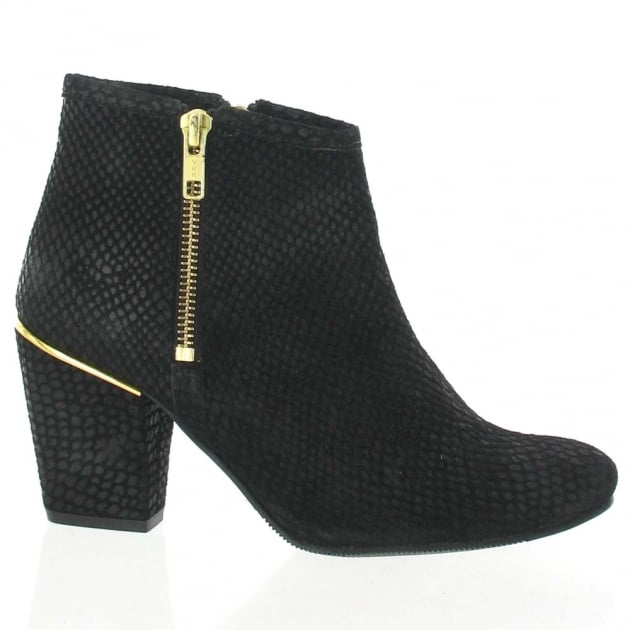 Marta Jonsson Suede Ankle Boot 4025S Black Boots