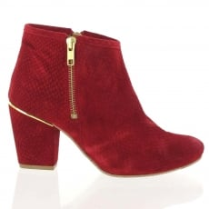 Marta Jonsson Suede Ankle Boot 4025S Red