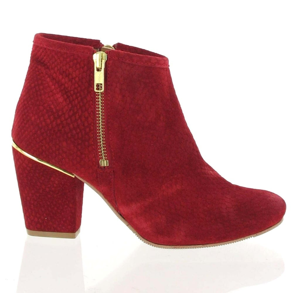 fbf7f25ce671 Marta Jonsson Suede Ankle Boot 4025S Women s Red Boots - Free ...