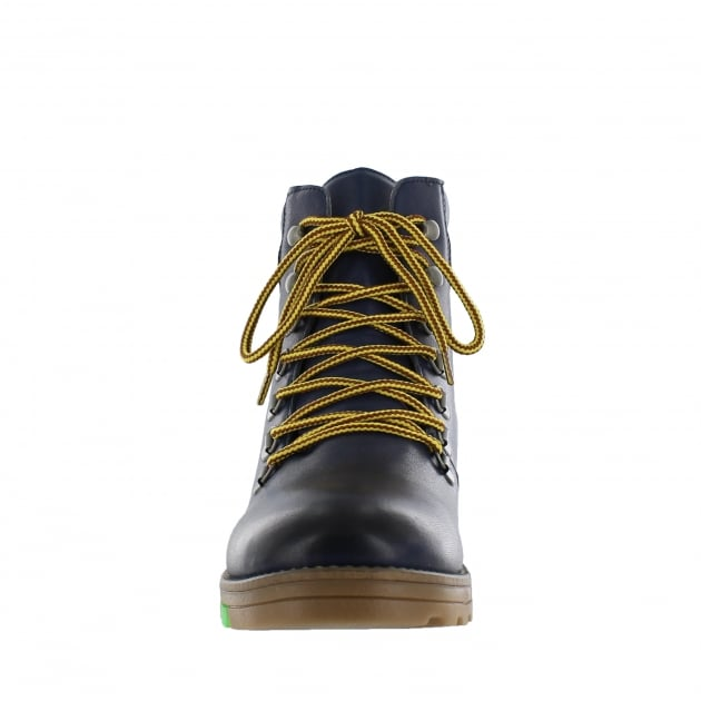 Ulli Mens Lace Up Northern Light Navy Boots J1382