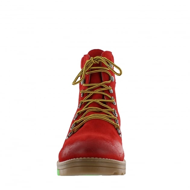 Marta Jonsson Ulli Mens Lace Up Northern Light Red Boots J1382