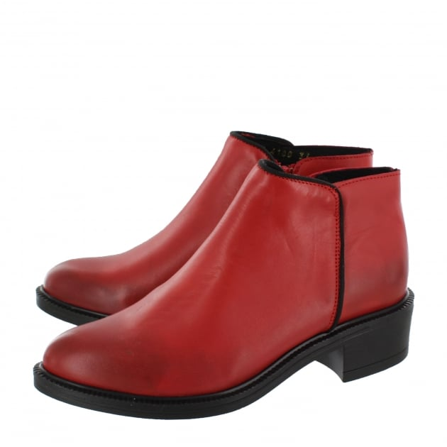 Marta Jonsson Womens Ankle Boot 4101L Red Boots