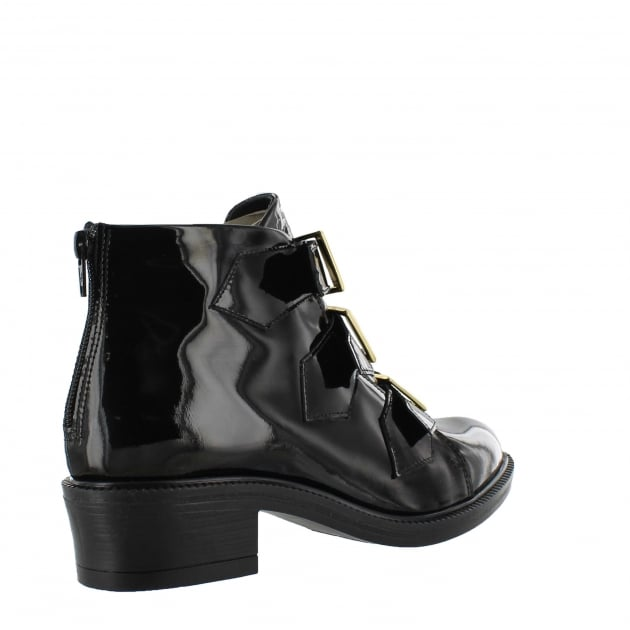 Womens Ankle Boot With Zip 4177P Black