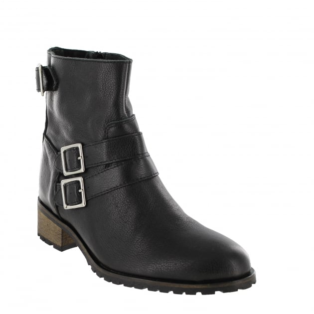 Marta Jonsson Womens Ankle Boot With Zip 4330L Black