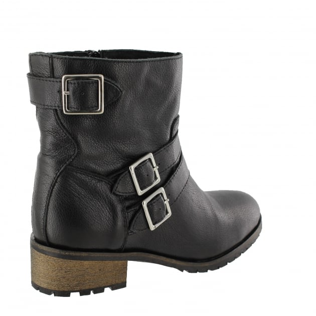 Womens Ankle Boot With Zip 4330L Black